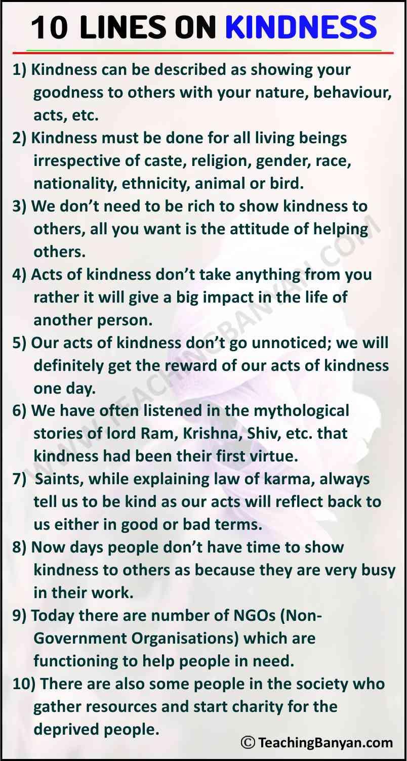 10 Lines on Kindness
