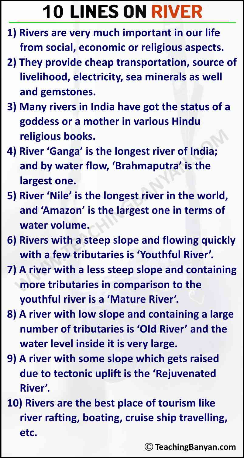 10 Lines on River