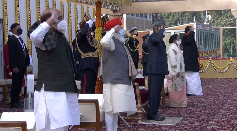 Ministers Salute National Flag